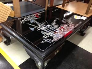 螺鈿の座卓テーブル画像