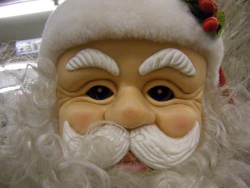 サンタの顔面