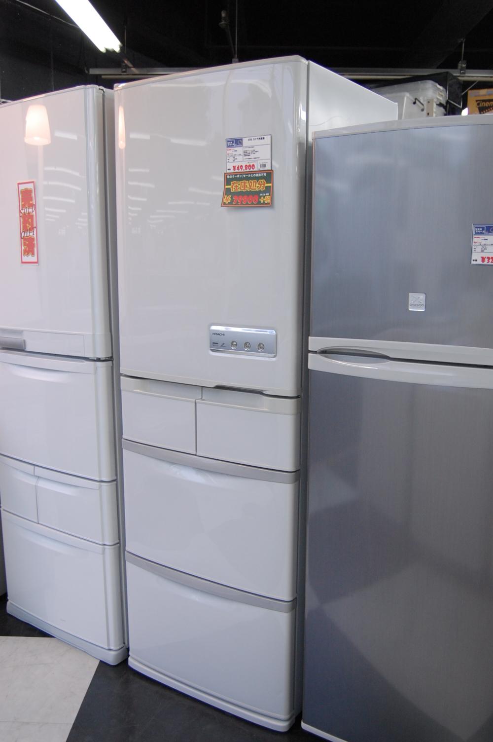 415L 5ドア冷蔵庫 自動製氷機能付き