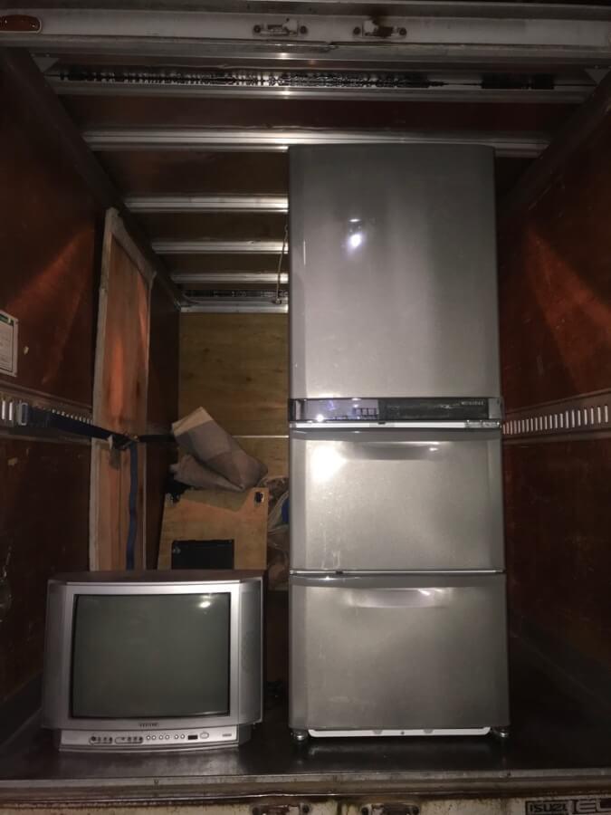 冷蔵庫とテレビのリサイクル家電対応