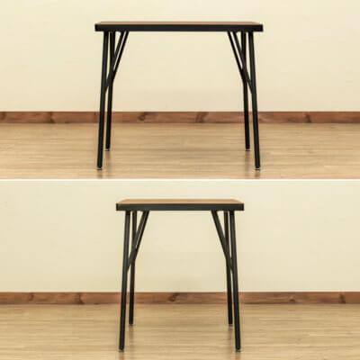 お部屋を広く見せるスッキリ脚のテーブル